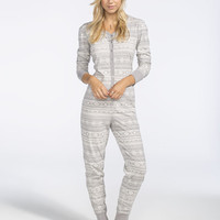 Full Tilt Dream Fairisle Onesuit Grey/White  In Sizes