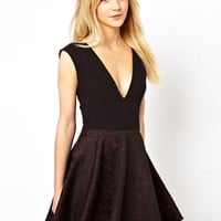 Love | Love Dress With Jacquard Skirt at ASOS