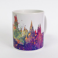 Hogwarts Castle Mug Harry Potter Mug Watercolor Art Cup Coffee Mug Harry Potter Cup Tea Mug Birthday Gift Coffee Cup Hogwarts Castle Art