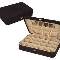 Mele Rene Black Suede Jewelry Box 545-62M