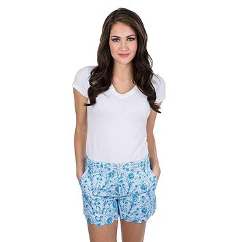 Print Scallop Shorts in You're a Gem by Lauren James