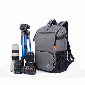 "DSLR Camera Photo Backpack Padding Divider Insert with 15"" Laptop Pack Travel Bag for Canon 5D 7D 600D Nikon D7200 Sony a6000 37"