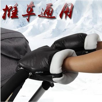 Baby stroller accessories winter waterproof anti-freeze pram hand muff baby carriage glove buggy clutch cart muff glove