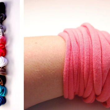 Endless Wrap Wrist Cuff Basic Stretch Wrist Bracelet Fashion accessory Women Teens Wrist Tattoo Cover