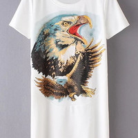 Eagle Printed T-Shirt Dress