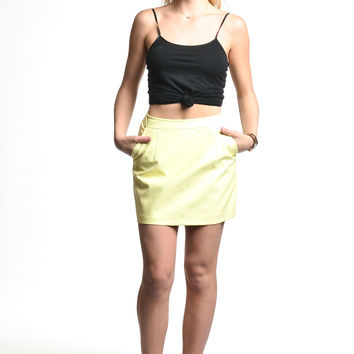 Blaque Market Yellow Skirt