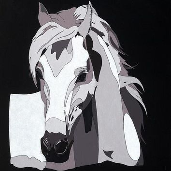 Arabian Horse With Hidden Picture - Art Print