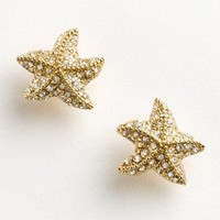 pav? starfish earrings