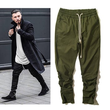 Stylish Knife Zippers Pants Hip-hop Skinny Pants [6543160067]