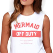 White Mermaid Off Duty Cropped Sleeveless Tee