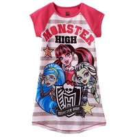 Monster High Stripe Dorm Nightgown - Girls, Size: