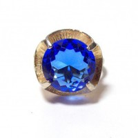 Vintage Faux Sapphire Cocktail Ring