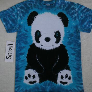Adult Small Tie-Dye Panda Bear tee