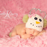 Newborn - 2 Years - Snowman w Matching Scarf and Removable Bow - Now Earmuffs and Scarf in Many Colors