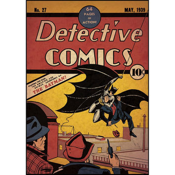 Batman First Issue Comic Book Cover Wall Accent Sticker
