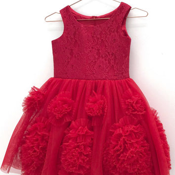 DOLLY by Le Petit Tom ® REBELLIOUS DRESS red