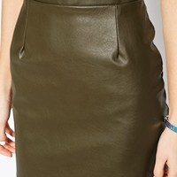 River Island Leather Look Mini Skirt