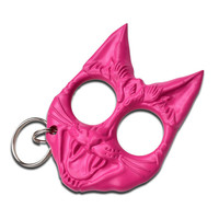 Pink Wild Cat Self Defense Keychain
