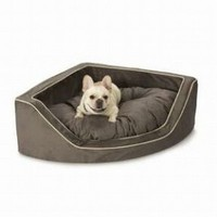 Snoozer Luxury Corner Pet Bed, Medium, Dk Chocolate/Buckskin