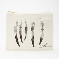 Langley Fox Feather Graphic Pouch