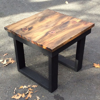 Rustic end table,rustic coffee table, distressed table, rustic dining table,table,reclaimed wood look, reclaimed wood look table,table