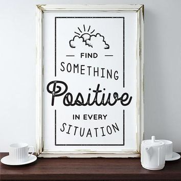 Positive Inspiration Motivation Poster Quote