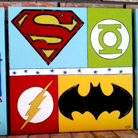 Nursery Wall Art, Kids Room, Children's Room Decor, Superhero, Super Hero Art, Canvas Painting