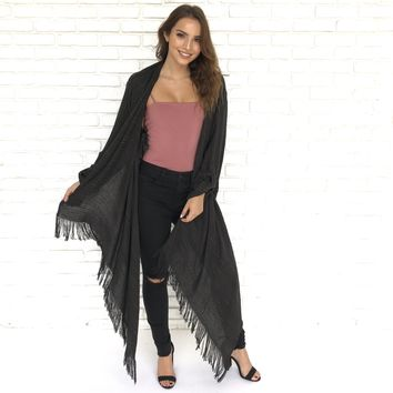 Light as a Feather Kimono in Charcoal