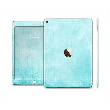 The Vintage Blue Textured Surface Skin Set for the Apple iPad Air 2
