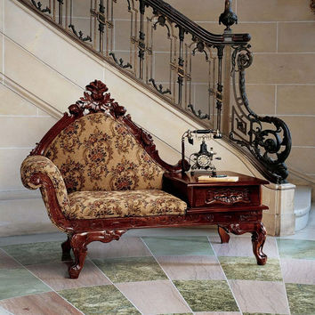 Park Avenue Collection Victorian Style Gossip Bench