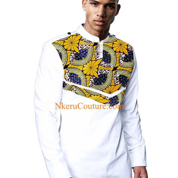 Autumn New Style African Print t Shirt Long Sleeve Casual Tops Men Dashiki Print Shirt Plus Size African Clothing MK88