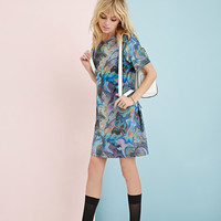 Clashist Oil Slick T-Shirt Dress