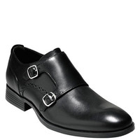 Cole Haan Copley Leather Double Monk Strap Loafers