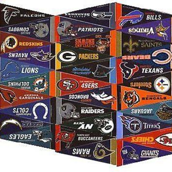 NFL Football Complete 32 Team 4x9 Mini PENNANT Banner Flag Set