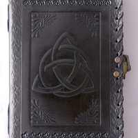 Triquetra Knot Emboss Leather Journal Notebook Diary Sketchbook Album Blank Book