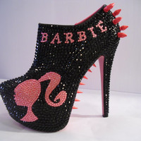 Barbie Spiked/Rhinestone Ankle Booties (BAD BARBIE)