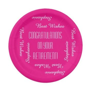 Paper Plates, Retirement Party Repeating Names Paper Plate