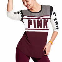 Colorblock Football Tee - PINK - Victoria's Secret