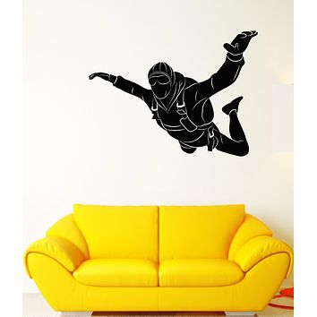 Vinyl Wall Decal Extreme Skydiver Parachuter Jumper Parachuting Stickers (2842ig)