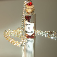 Queen of Hearts Magical Staff Necklace Red by LifeistheBubbles