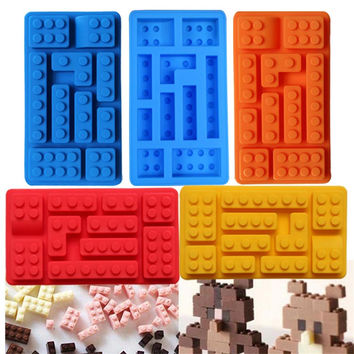 Blocks Silicone Mold Cake/Ice/chocolate 5 Colors