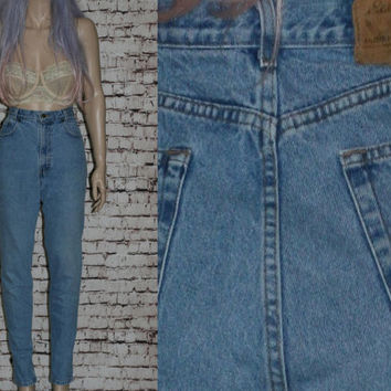 90s High Waist Mom Jeans Tapered Distressed Skinny light medium Wash Waist Grunge Hipster Pastel Goth Punk Festival Denim 10 12 30 29