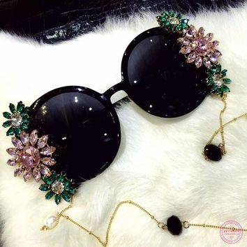 Baroque Crystal Sunglasses