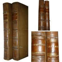 Wadham College Leather Bound Books -Euripides  1841- Lucanus -1878