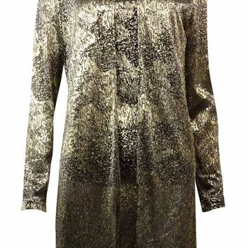 Alex Evenings Women's Metallic Mesh 2 PC  Blouse Set