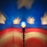 Hand-Painted Stars & Stripes American Flag Mood-Light Bulb 4 FOURTH OF JULY, Memorial day, Veterans Day, Night Light, Mood Lighting, Parties