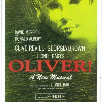 Oliver! 11x17 Broadway Show Poster (1963)