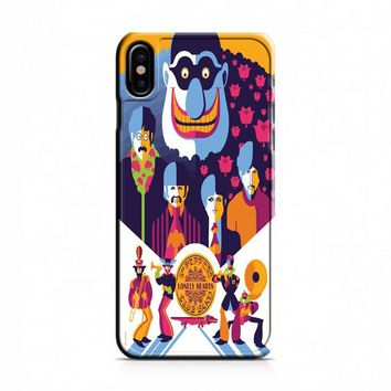 Beatles (yellow submarine on blue) iPhone X Case