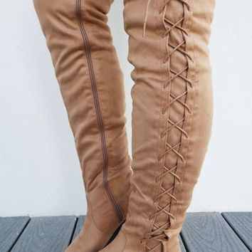 Forever Mine Boots: Taupe
