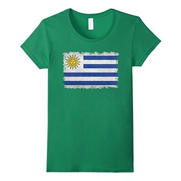 Flag of Uruguay T-Shirt in Vintage Retro Style
